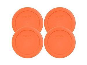 Pyrex 7200-PC Round 2 Cup Storage Lid for Glass Bowls (4, Orange)