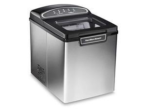 Hamilton Beach 86150 Countertop Ice Maker, Compact & Portable Design, Makes 28 Pounds Per Day, Stainless Steel
