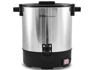Elite Cuisine CCM-035FFP 30 Cup Electric Stainless Steel Coffee Maker Urn, Removable Filter For Easy Cleanup, Two Way Dispenser with Cool-Touch Handles