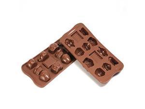 Silikomart SCG17 Platinum Tea Time Silicone Chocolate Mold, Brown