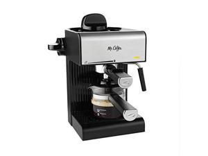 Mr. Coffee BVMC-ECM180 Steam Espresso with Starter Set, Black