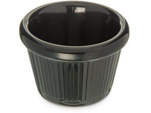 Carlisle S27903 Melamine Fluted Ramekin, 2 oz. Capacity, Black (Case of 48)
