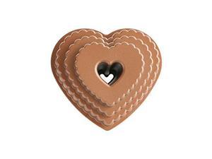 Nordic Ware 89937 Cast Bakeware Tiered Heart Bundt, Bronze
