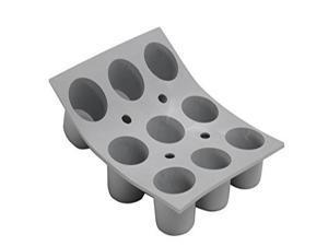 """ELASTOMOULE Silicone Mold, 9 Mini-Muffins, 8.25"""" x 7"""""""