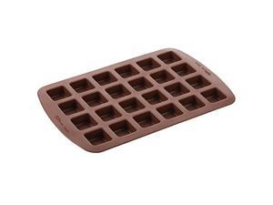 Wilton Bite-Size Brownie Squares Silicone Mold, 24-Cavity