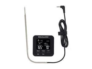 KitchenAid KQ906 Programmable Wired Probe Thermometer, TEMPERATURE RANGE: -40°F to 482°F/-40°C to 250°C, Black