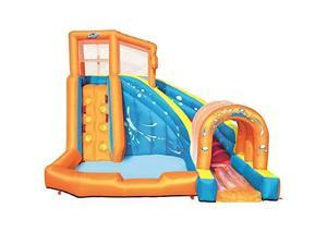 Bestway H2OGO! Hurricane Tunnel Blast Inflatable Water Park Pool with Slide