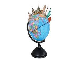 Vivitar VA90030 KidsTech Light Up Augmented Reality Globe with Free App for iOS and Android, App Included, Lights Up, Excellent Learning Tool, See The World in Augmented Reality, Blue