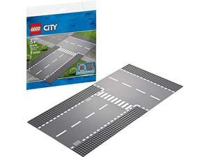 LEGO City Straight and T-junction 60236 Building Kit, 2019 (2 Pieces)