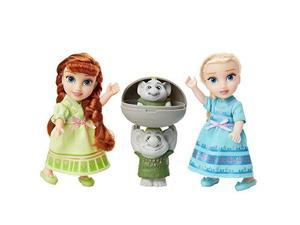 disney frozen petite anna & elsa dolls with surprise trolls gift set, each doll is approximately 6 inches tall  includes 2 troll friends! perfect for any frozen fan!