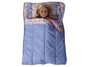"Baby Whitney Quilted Patchwork 18"" Doll All-in-One Bed Comforter (DOLL NOT INCLUDED)"