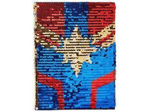 Marvel Captain Marvel Sequin Journal