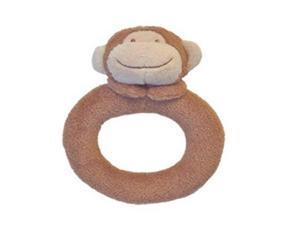Angel Dear Dark Monkey Ring Rattle:
