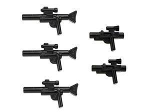LEGO Star Wars Minifigure Blaster Guns Accessories 5 Pieces (3 Long Blasters, 2 Short Blasters)