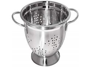 Uniware Professional Stainless Steel German Style Colander, Silver, Heavy Duty (3-Quart)