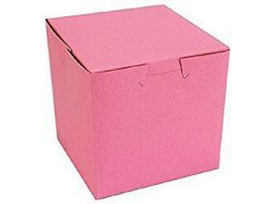Pink Bakery Single Cupcake Box 4 X 4 X 4 inch (30) Made in USA