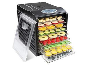 Ivation IV-FD90RSB Dehydrator Machine, 9 x Stainless Steel Trays, Black