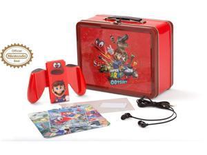 powera nintendo switch collectible lunchbox kit super mario odyssey  character splash edition  nintendo switch