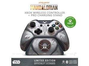 Controller Gear Star Wars: The Mandalorian Baby Yoda, Xbox Wireless Controller + Pro Charging Stand Bundle for Xbox-Limited Edition-Officially Licensed By Xbox, Disney, Lucasfilm Ltd. - Xbox One
