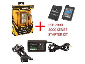 Replacement 3.6V 3600 MAh Battery + 5V AC Adapter Charger for Sony PSP 2000, 3000