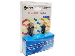 Wii U GamePad Charge Cable -10FT (BLACK)