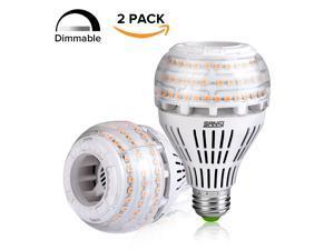 SANSI 27W (250 Watt Equivalent) A21 Dimmable LED Light Bulbs, 4000 Lumens, 3000K Soft Warm White, 270° Omni-directional, E26 Medium Screw Base LED Floodlight Bulb, 5-Year Warranty (2 Pack)