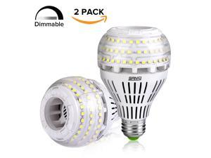 27W (250 Watt Equivalent) A21 Dimmable LED Light Bulbs, 3500 Lumens, 5000K Daylight, 270° Omni-directional, E26 Medium Screw Base LED Floodlight Bulb, 5-Year Warranty, SANSI (2 Pack)