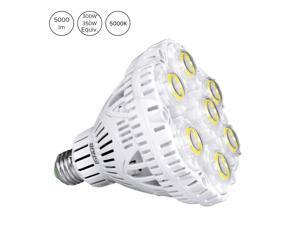 SANSI 40W LED Light Bulb, 300-350W Equiv, 5000K Daylight, 5500lm Super Bright Bulb, Non-Dimmable, CRI 80, E26 to E39 adapter, BR30 Floodlight for Warehouse Church Barn Supermarket Logistic Center