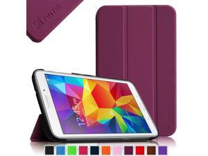 For Samsung Galaxy Tab 4 8.0 Case - Fintie Shell Slim Lightweight Stand Cover with Auto Sleep/Wake, Purple