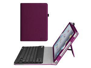 For Apple iPad 4, iPad 3 & iPad 2 Keyboard Case - Fintie Folio Case With Removable Bluetooth Keyboard, Purple