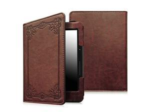 Case For Kindle Paperwhite Prior to 2018 - Fintie PU Leather Book Style Cover Vintage Antique Bronze