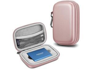 Fintie Carrying Case for Samsung T5 T3 SSD, Hard Shell Shock Proof Travel Storage Bag Portable Solid State Drive Gold