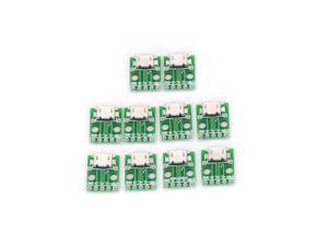 Hot Selling 10pcs High Quality MICRO USB To DIP Adapter 5pin Female Connector B Type PCB Converter