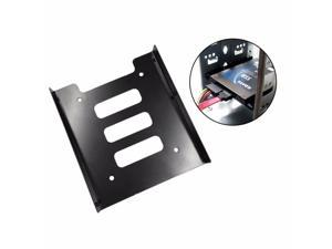 SuperiParts Professional 2.5 Inch To 3.5 Inch SSD HDD Metal Adapter Rack Hard Drive SSD Mounting Bracket Holder For PC Black