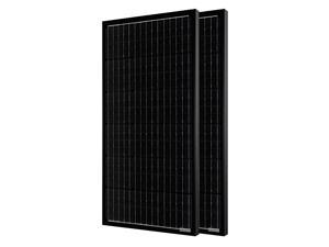 ACOPOWER 2x100 Watts Monocrystalline All Black Solar Panel (2 Pack, 200W)