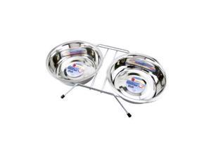 19464 Double Diner Pet Bowl, Stainless Steel - Quantity 1
