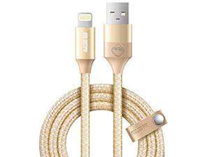 ESR USB to Lightning Durable 3.3ft Fast Charging Braided Cable Gold For iPhone iPad Devices