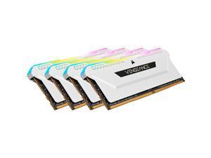 Corsair Vengeance RGB Pro SL 32GB (4 x 8GB) 288-pin DIMM DDR4 3600 MHz CL18 RGB LED Memory (CMH32GX4M4D3600C18W)