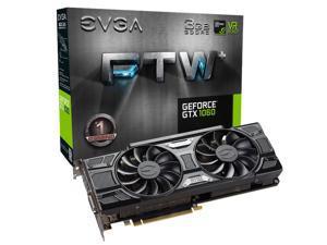 EVGA GeForce GTX 1060 DirectX 12 03G-P4-6367-KR 3GB 192-Bit GDDR5 PCI Express 3.0 x16 FTW+ Gaming ACX 3.0 Video Card