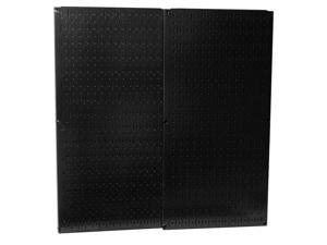 Wall Control Black Metal Pegboard Pack - Two 32in Tall x 16in Wide Pegboard Tool Boards