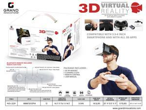 3D VR GLASS HEADSET WITH REMOTE - WHITE