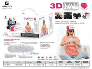 3D VR GLASS HEADSET WITH REMOTE - PINK