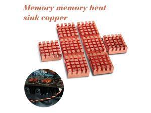8pcs/Set  Copper Heat Sink Back Heatsink Cooler Cooling 13*12*4 mm For VGA GPU DDR DDR2 DDR3 RAM