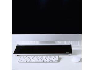 Quartet Quartet Glass Dry-Erase Desktop Computer Pad, 18 x 6, Black Surface,
