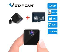 Vstarcam C90S Mini Spy Camera Hidden Nanny Camera with Night Vision and Motion Detection - Wireless for Indoor Outdoor Use - 1080p HD Recording - 2-in-1 WiFi/DV Mode - for Home or Business with 32GB