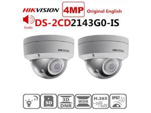HikVISION Dome CCTV IP Camera Outdoor DS-2CD2143G0-IS 4MP 4mm Lens IR Netwerk Security IR30m Night Vision PoE IP Dome Camera with H.265+ SD Card Slot IP67 2-Way Audio, 2 Pack
