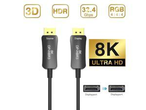Jansicotek DisplayPort Cable, 8K DP Cable -(4K@144Hz, 8K@60Hz, 2K@165Hz) Gold-Plated DP to DP Cable Ultra High Speed Display Port Cable for Laptop PC TV etc- Gaming Monitor Cable - 10m 33ft