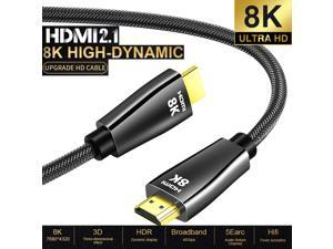 HDMI 2.1 8K Cable Pure Copper 1m (3.3ft) – Up to 8K @60Hz, 4K@120Hz, 48Gbps, 3D, 100% Copper, HDMI 2.1, HDCP 2.2, HDR, Dolby Vision, ARC, Dolby Atmos, DTS-X (CDHDMI8K)