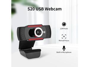 USB Webcam HD 480P Video Recording Camera Live Web Cameras for Microsoft HP Computer with Microphone Online Webcams