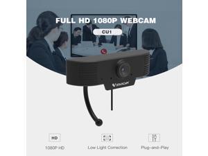 USB HD Webcam, HD Webcam 1080P, Pro Streaming Web Camera with Microphone, Widescreen USB Computer Camera for PC Mac Laptop Desktop Video Calling